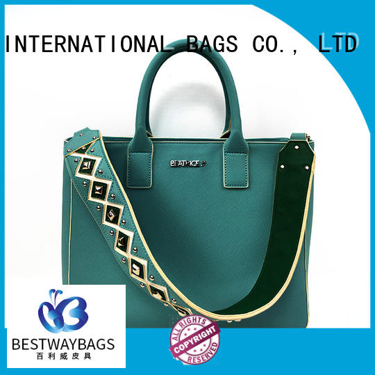 Bestway large pu leather wholesale supplier for ladies