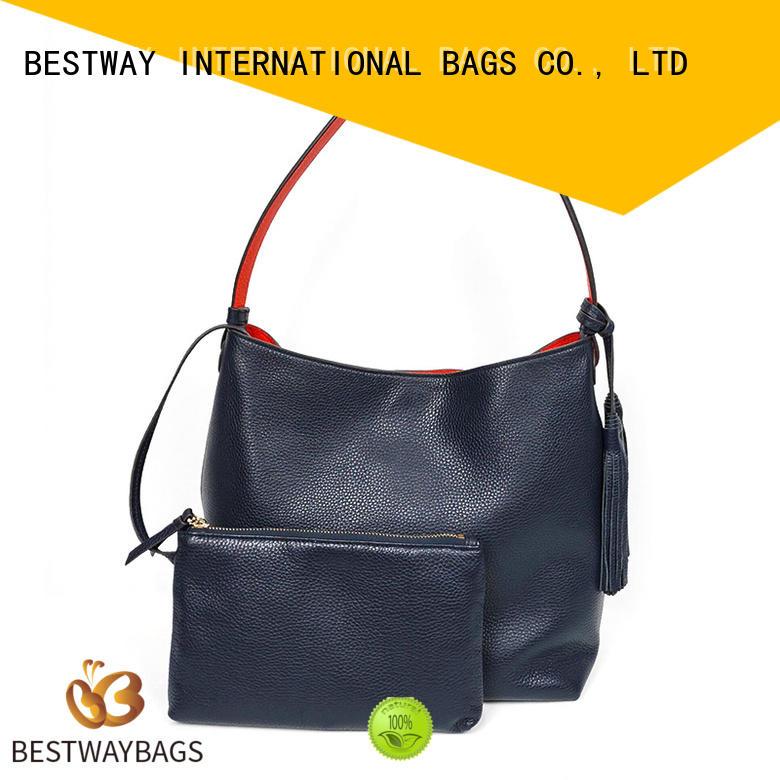 Bestway side leather handbags women for date