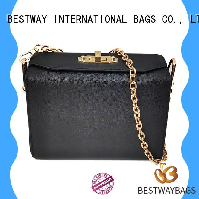 Bestway simple vintage leather shoulder bag logo for girl