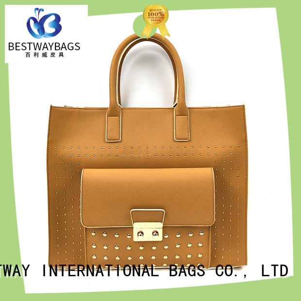 Bestway metal faux leather durability supplier for girl