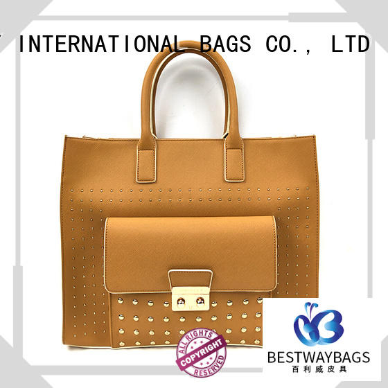 Bestway elegant polyurethane purse nylon for women