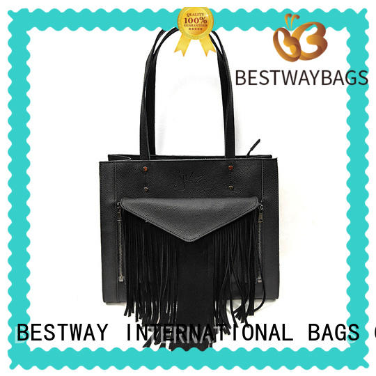 wide leather handbags personalized for school Bestway