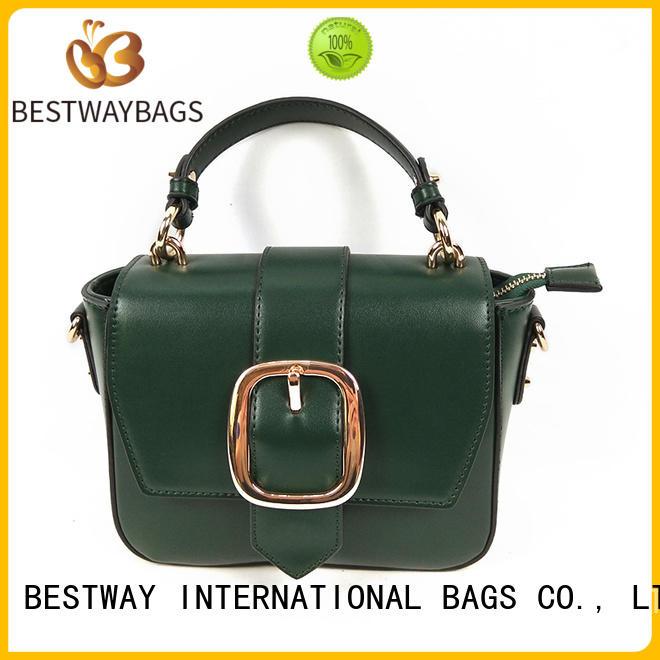 Bestway simple pu leather handbags online for lady