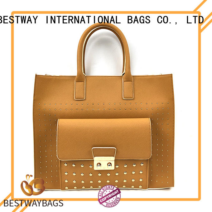 Unique Oversized Expensive Tan Womens Leather Tote Bags Handbags With Rivets
