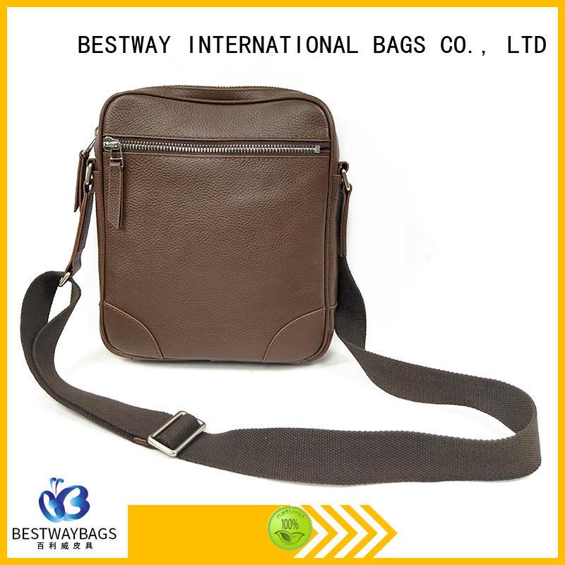 Bestway side leather bag on sale for school