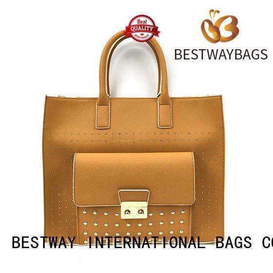 Bestway simple pu leather bag Chinese for ladies