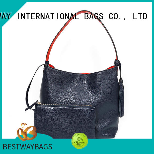 stylish black leather purse online for work