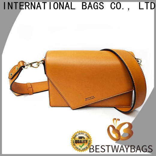 Bestway generous polyurethane pu leather supplier for ladies