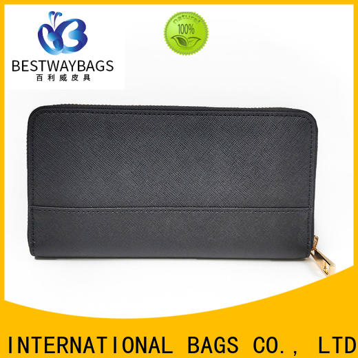 Bestway trendy mens leather purses bags wildly for date