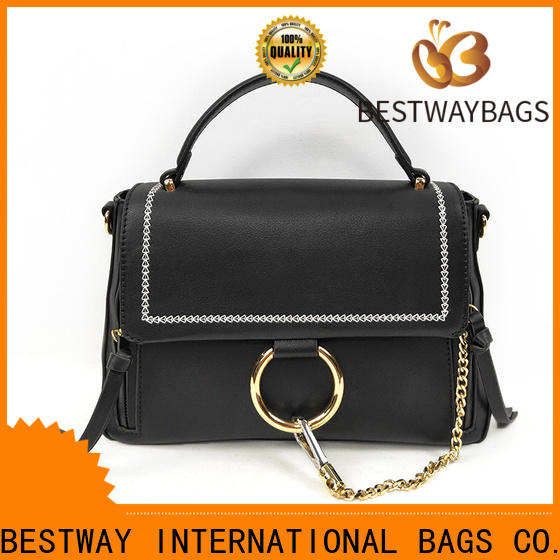 Bestway metal premium pu leather material Chinese for lady