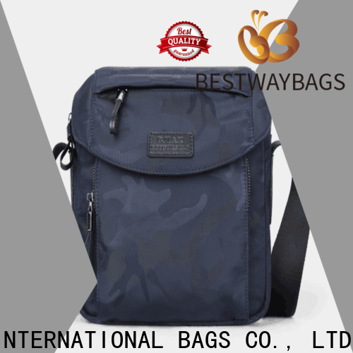Bestway capacious nylon tote with leather handles personalized for sport