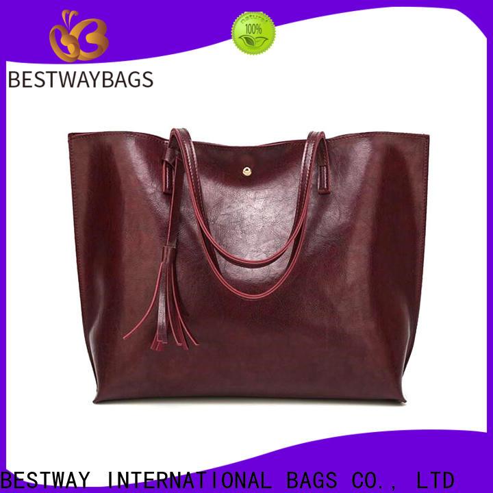 Bestway elegance leather bag material supplier for women