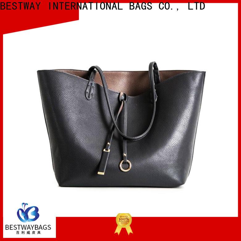 Bestway plain leather bag shop on sale
