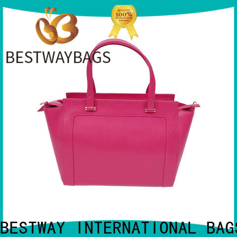 Bestway simple polyurethane vegan leather Chinese for lady