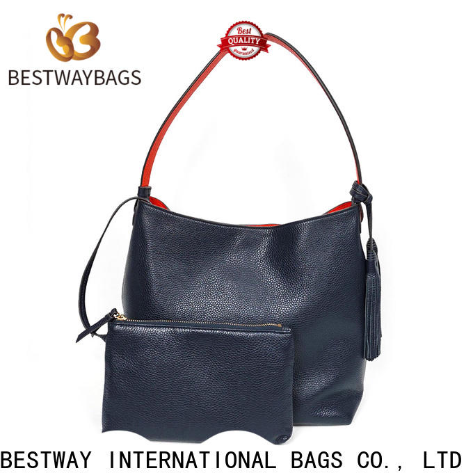 Bestway hobo brown leather bag personalized