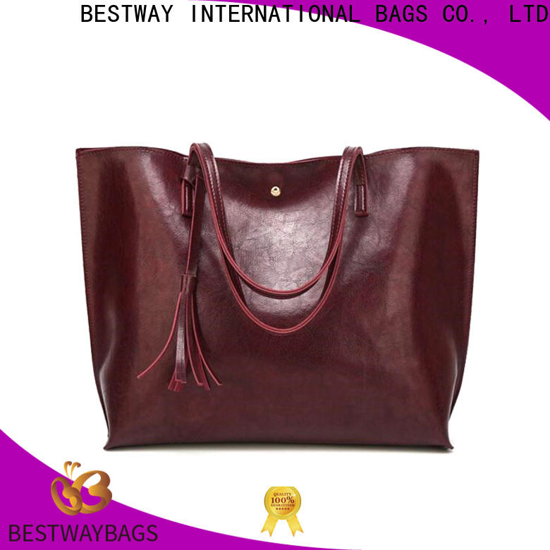 Bestway ladies pebbled leather Chinese for women