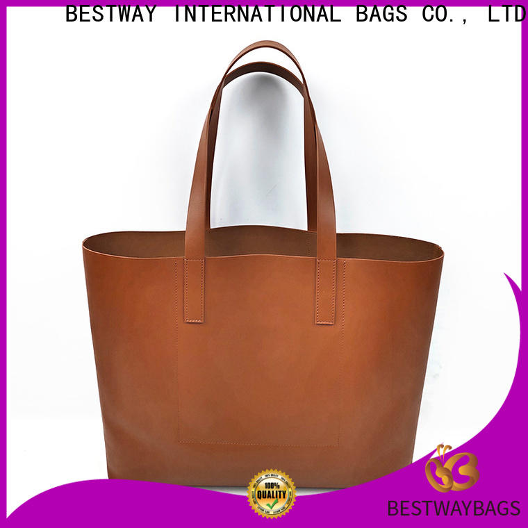 Custom leather bag in rain womens factory for lady
