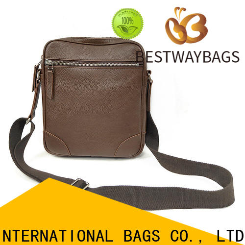 Latest black leather bag sale chain company for school