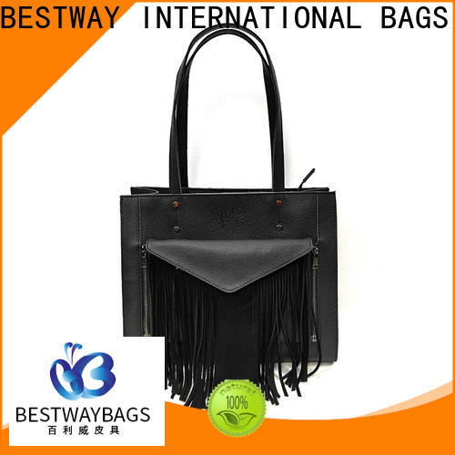High-quality black leather purse latest Supply