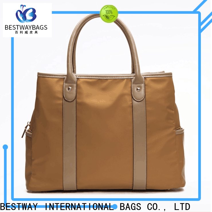 light nylon tote bag with shoulder strap small personalized for bech