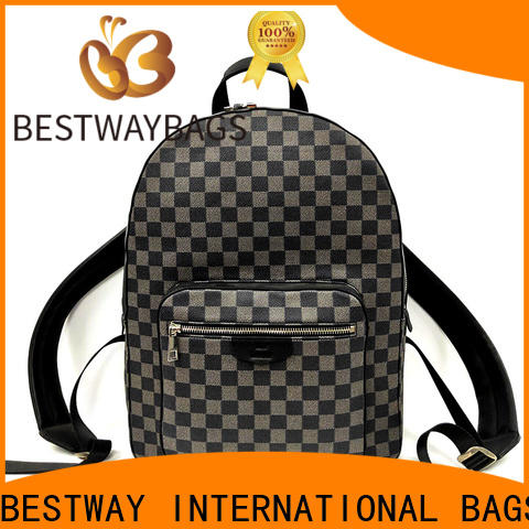 Latest best leather purse bag Supply for school