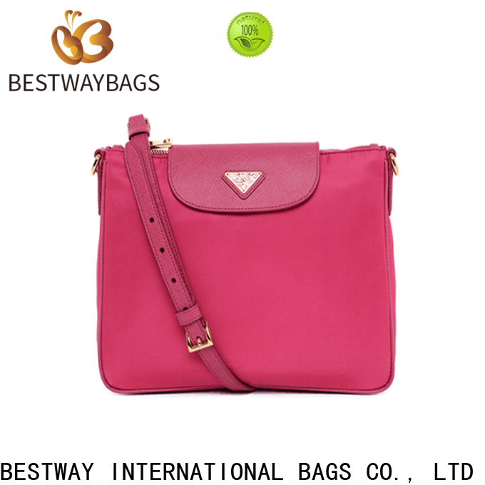Bestway women black nylon handbag Suppliers for gym