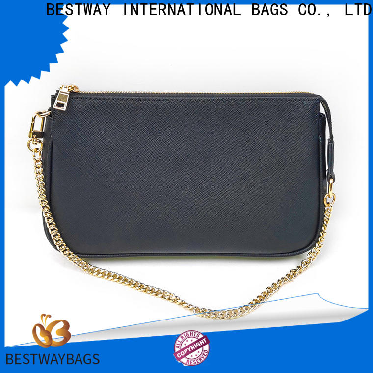 Bestway Custom black leather bag womens personalized for date
