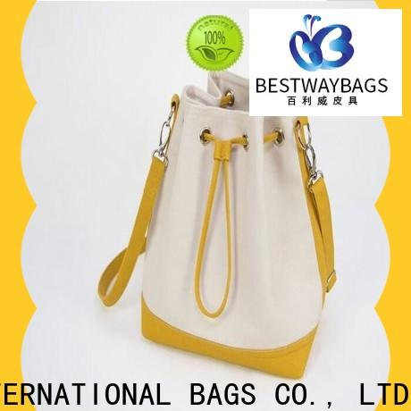 Bestway shopping large black canvas bag manufacturers for travel