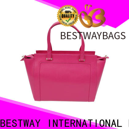 Bestway large leather like bags manufacturers for girl
