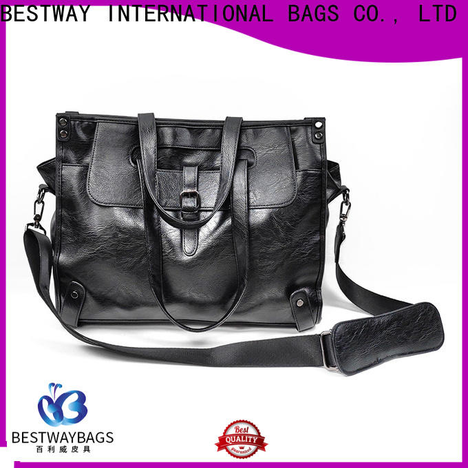 Bestway New leather bag logo company for girl