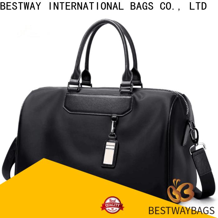 Latest black nylon bag trim for business for gym
