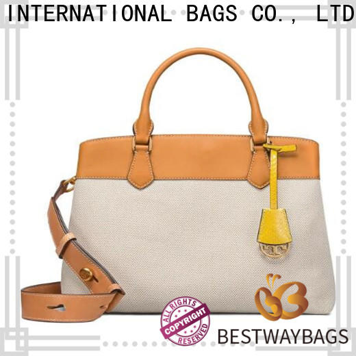 Bestway leather plain canvas tote bags bulk factory for travel