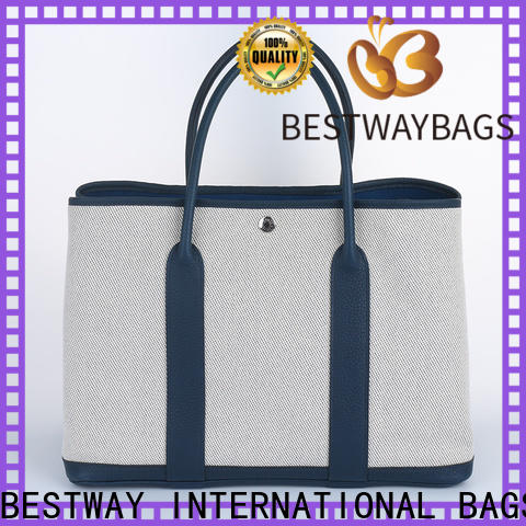Bestway High-quality cotton canvas tote company for holiday