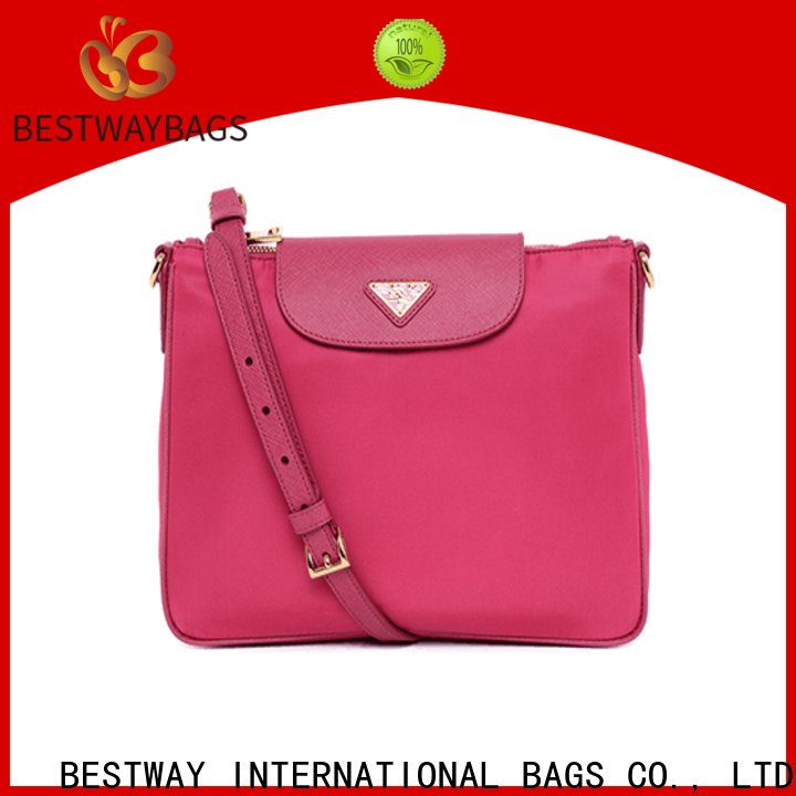 Latest nylon purse leather handles body factory for gym