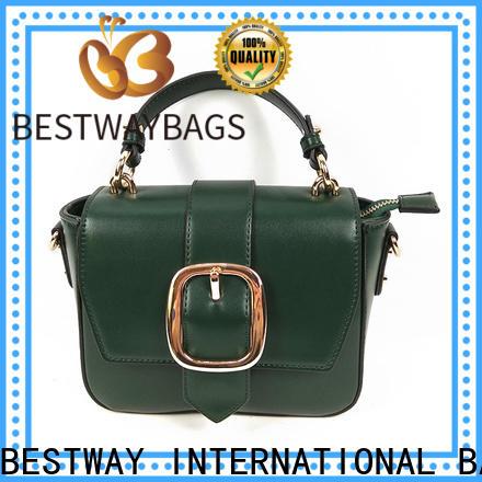 Bestway elegant pu leather vs genuine leather company for ladies
