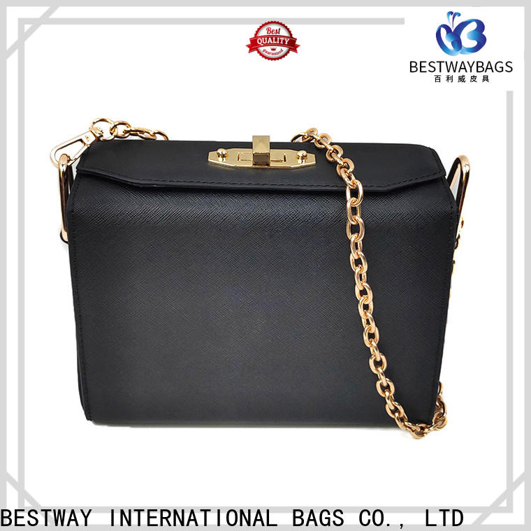 Bestway black pu leather jacket manufacturers for lady