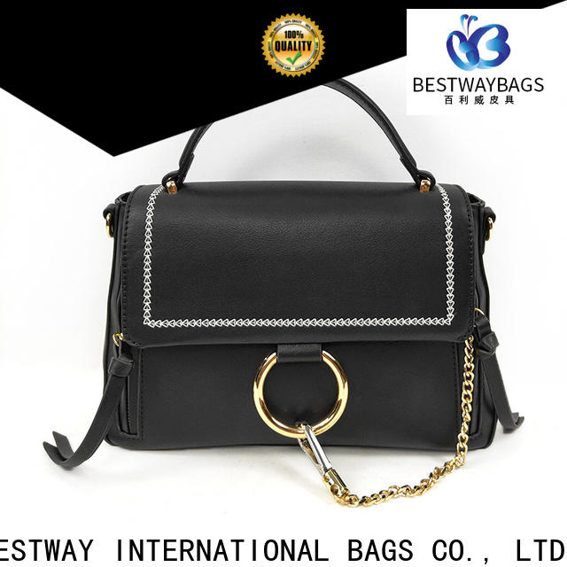 Bestway simple vintage pu leather tote bag manufacturers for lady