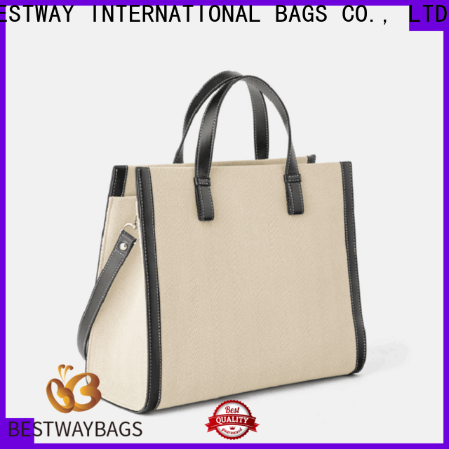 Bestway Latest black canvas bag wholesale for shopping