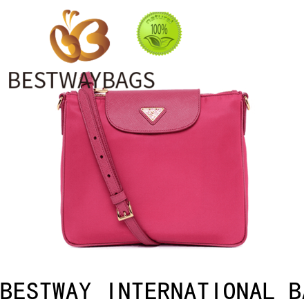 Bestway cross nylon purse with leather straps company for gym