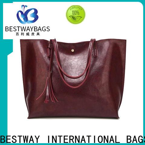 Bestway elegant polyurethane vegan leather for sale for girl
