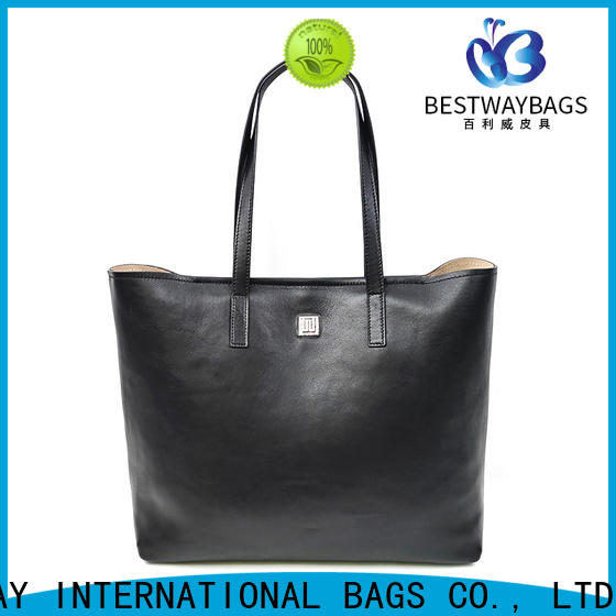 Bestway round leather tote personalized for school