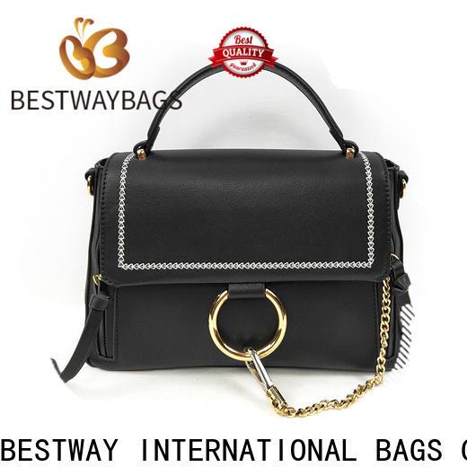 Bestway light polyurethane pu leather supplier for ladies