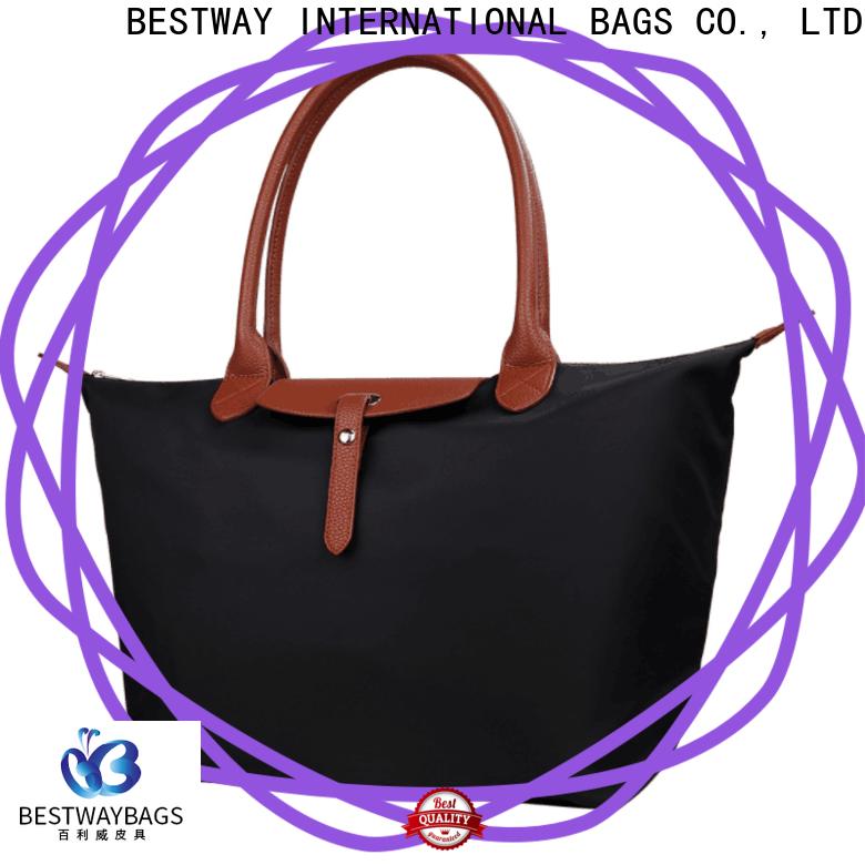 capacious black nylon handbag womens supplier for swimming