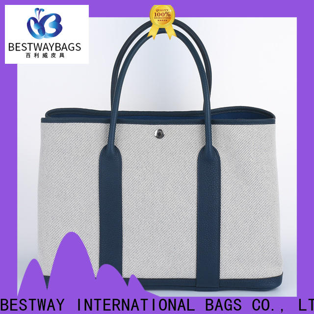 Bestway Top canvas tote with leather handles for business for relax