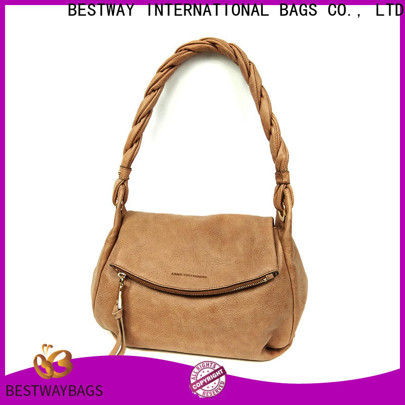 Bestway New taupe leather bag manufacturers for ladies