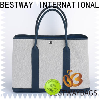Bestway mini plain white canvas bags personalized for vacation