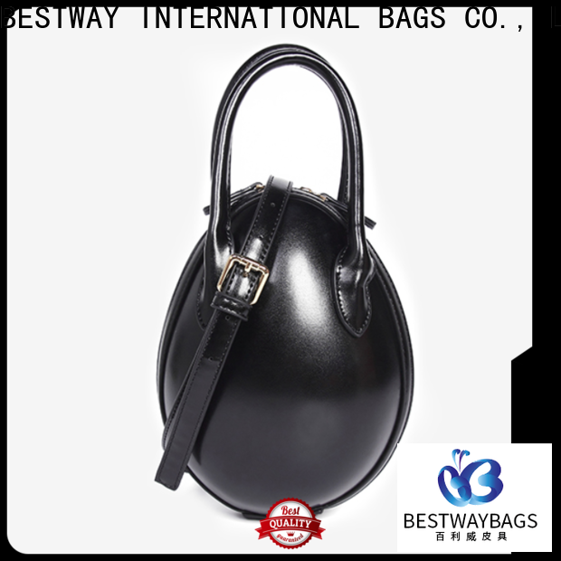 Bestway zipper leather handbags for business for ladies