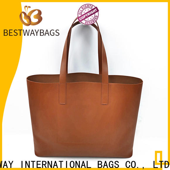 Bestway boutique taupe leather bag online for women