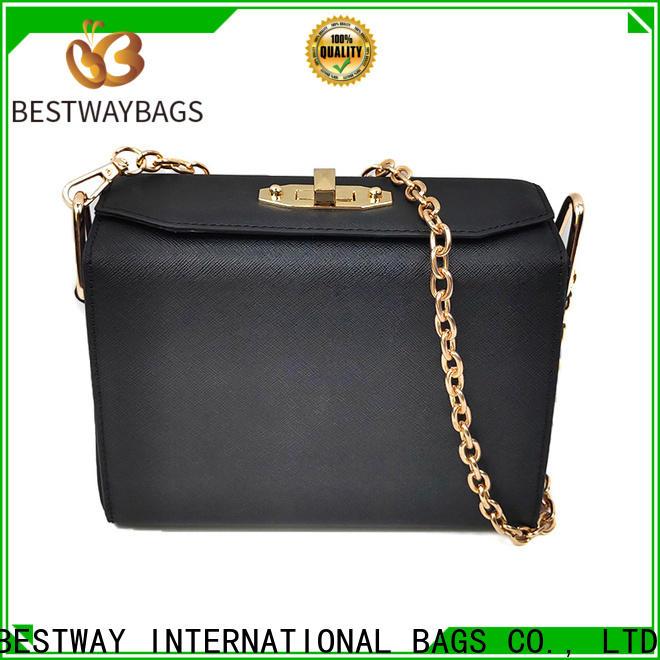 Bestway elegant pu leather shoulder bag factory for girl