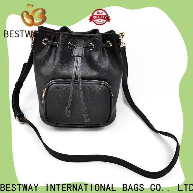 Bestway Custom ladies black leather handbags wildly for work